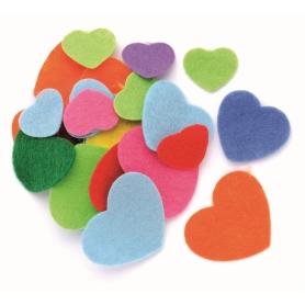 80 coeurs en feutrines coloris assortis - Glorex