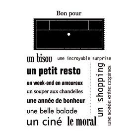 """Mini tampons clear """"Bon pour"""" d'Artemio"""