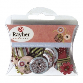"Boutons epoxy ""automne"" Rayher"