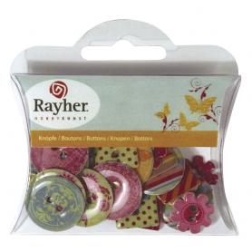 """Boutons epoxy """"summer"""" Rayher"""