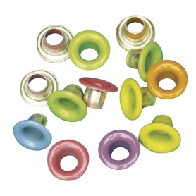 assortiment 50 oeillets coloris classiques, 8 mm Rayher