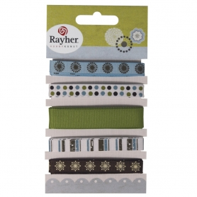 "Assortiment 5 rubans ""Winter"" de Rayher"