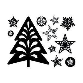 "Mini Tampons Clear Noël ""sapin et étoiles Artemio"