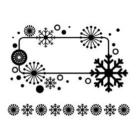 """Mini Tampons Clear Noël """"étiquette"""" Artemio"""