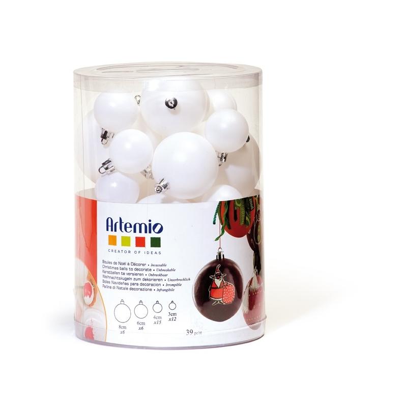 Lot de 39 boules de Noël à décorer Artemio