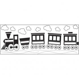 Tampon continu Fiskars motif train