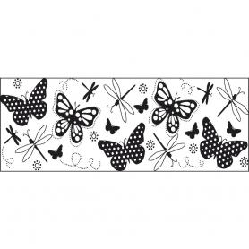 Tampon continu Fiskars motif papillons