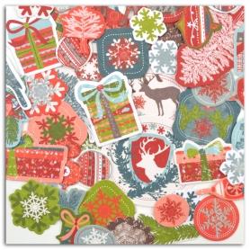 Formes en papier découpées Noël Forêt enchantée Toga