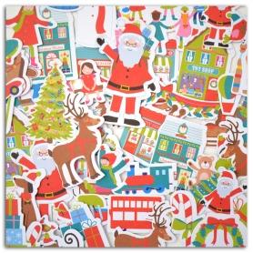 Formes en papier découpées Noël au pays des jouets Toga