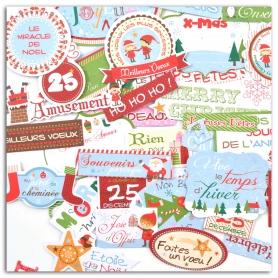 Formes en papier découpées Noël des lutins Toga