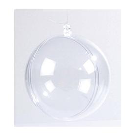 Boules de Noël transparentes à décorer 7 cm - Rico Design