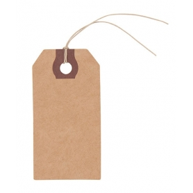 Etiquettes cadeaux en papier kraft x 9