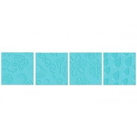 "Plaque de gauffrage Fiskars 4 motifs ""Expression"""