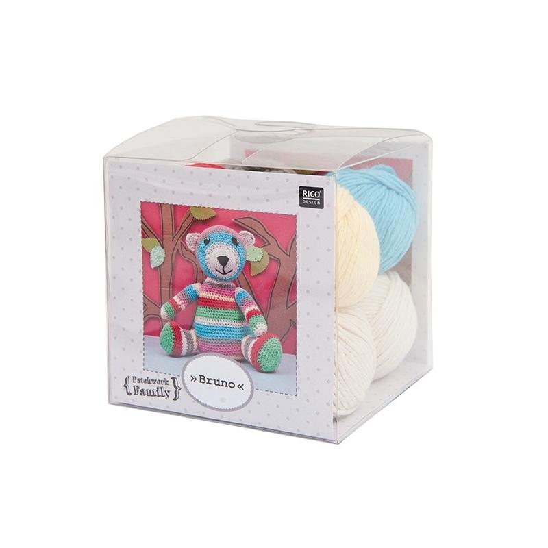 """Kit Ourson crochet """"Bruno"""" Rico Design"""