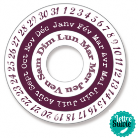 Tampon Stampo Maxi set calendrier d'Aladine