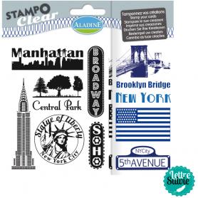Set de 11 Tampons clear Stampo Aladine New York
