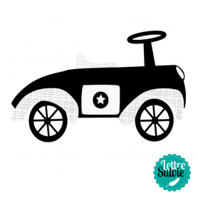 Tampon bois mini voiture Aladine