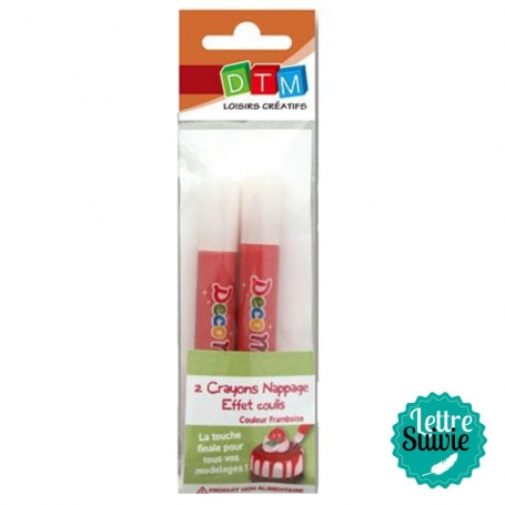 Crayon coulis Fimo framboise