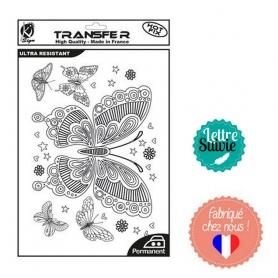 Transfert textile Ki-Sign A4 Papillons