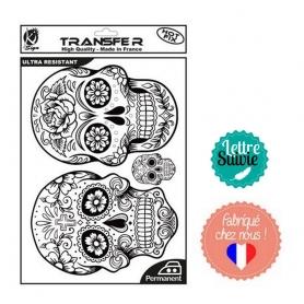 Transfert textile Ki-Sign A4 crânes mexicains 2