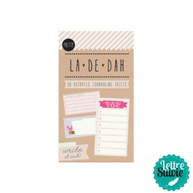 """Mini bloc 30 feuilles """"Pretty"""" La De Dah"""