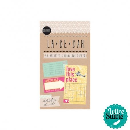 """Mini bloc 30 feuilles """"Journey"""" La De Dah"""