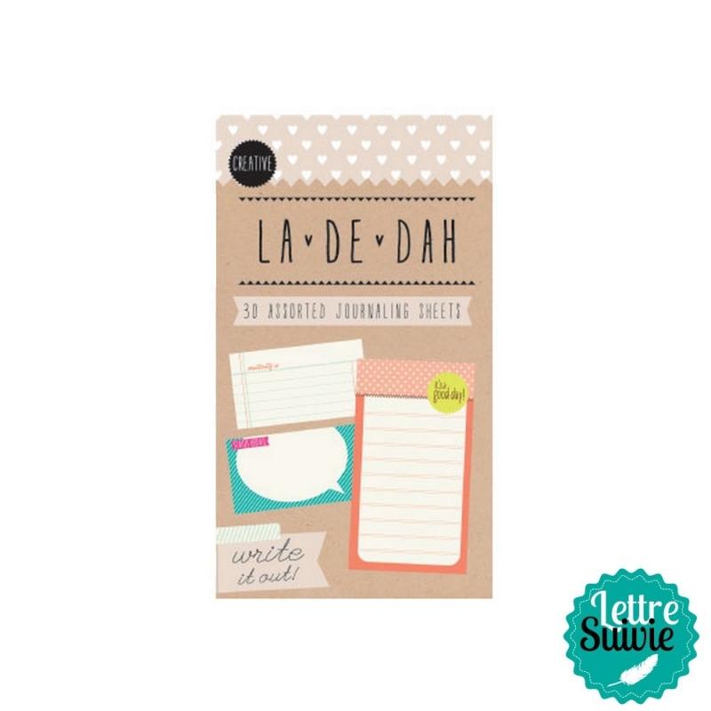 """Mini bloc 30 feuilles """"Creative"""" La De Dah"""
