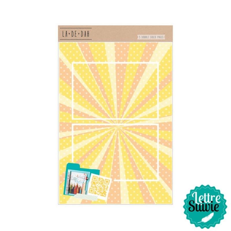 Recharge 5 feuilles pour journal créatif Lah De Da