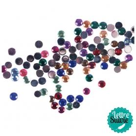 Lot de strass à coller ronds multicolores Rico Design