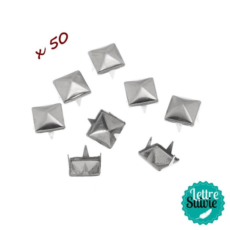 Clous à griffes argentés x 50