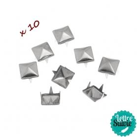 Clous à griffes argentés x 10