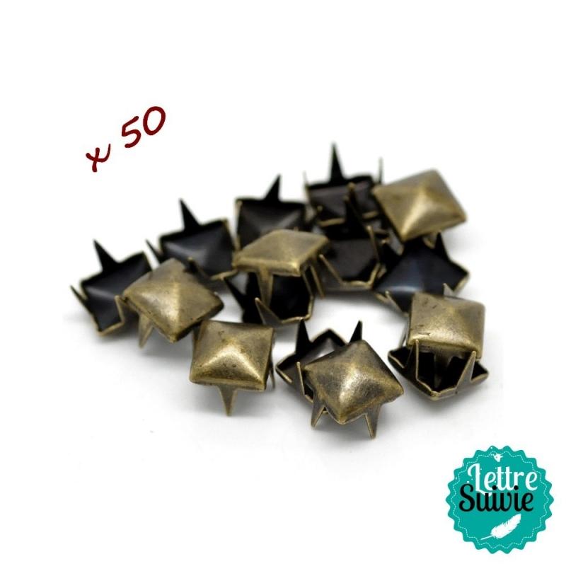 Clous à griffes bronze x 50