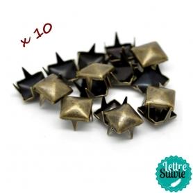 Clous à griffes bronze x 10