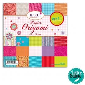 """Papier Origami """"Bohème"""" 100 feuilles Toga"""