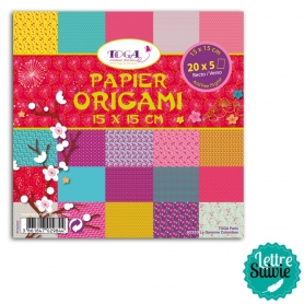 """Papier Origami """"Jardin du Japon"""" 100 feuilles Toga"""