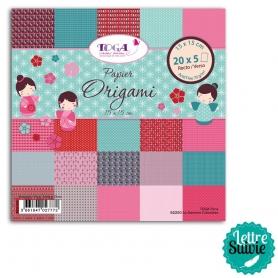 "Papier Origami ""kokeshi"" 100 feuilles Toga"