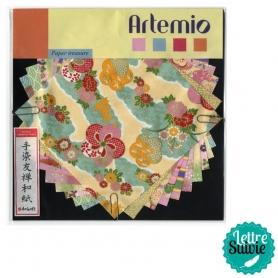 Set de papier japonais origami - pastel