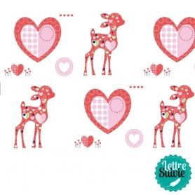 Coupon de tissu 45x55 cm Artemio Sweet bambi