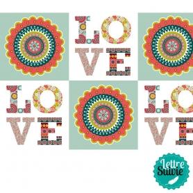 Coupon de tissu 45x55 cm Artemio Oldies Love