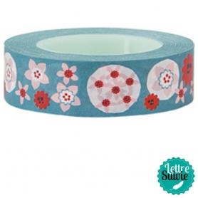 Masking tape My Memo de Rico Design fleurs turquoises