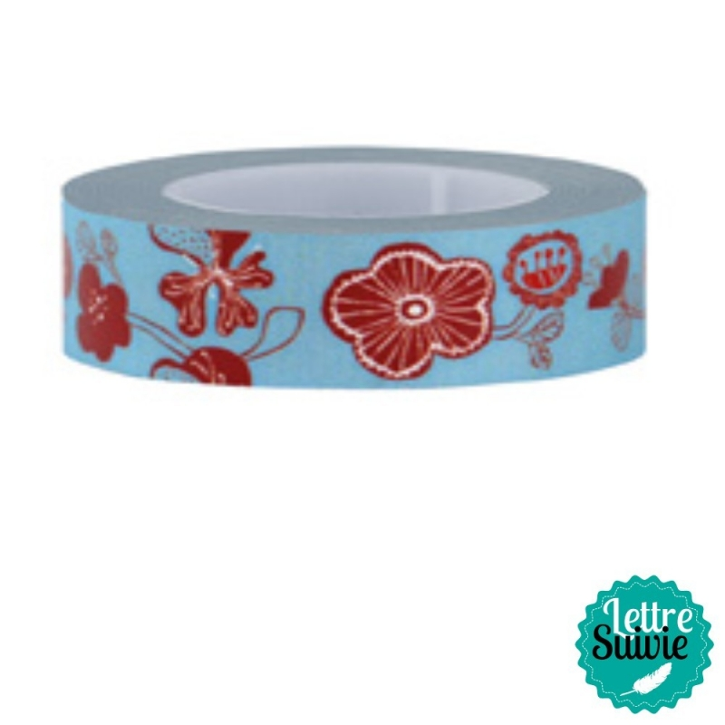 Masking tape My Memo de Rico Design fleurs japonaises