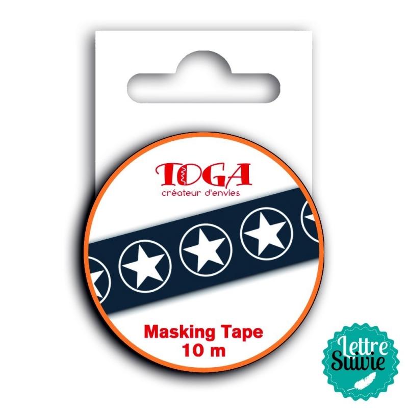 """Masking tape """"l'instant présent"""" noir et blanc Toga"""