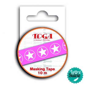 "Masking tape ""l'instant présent"" rose Toga"