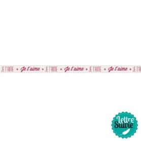 "Masking tape message ""Je t'aime"" Artemio"