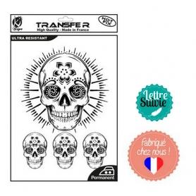 Transfert textile Ki-Sign A4 crânes mexicains