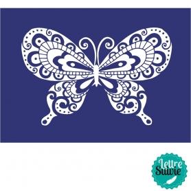 Pochoir textile A4 papillon My Style