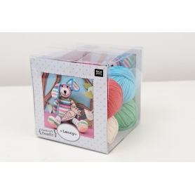 "Kit lapin crochet ""Lenny"" Rico Design"