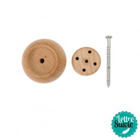 Support bois pour 4 aiguilles de feutrage