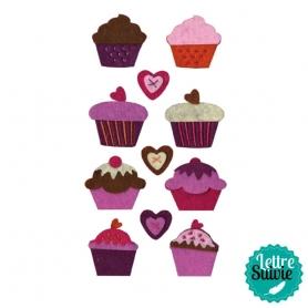 """Motifs feutrine """"cupcakes"""""""