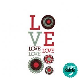 Motifs feutrine thème Love